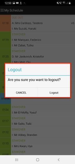 Are you sure you want to logout?